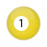 Yellow billiards ball