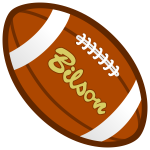 Brown rugby ball vector graphics