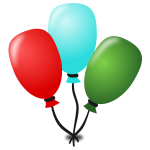 Vector clip art of birthday party decoration
