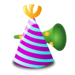 Birthday hat and trumpet vector image