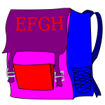 Schoolbag with writing vector image