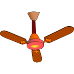 Vector illustration of fan