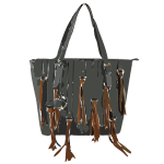 black bag brown tassles