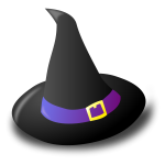 Black witch hat vector graphics
