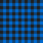 Plaid cloth in black and blue