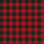 Checker plaid cloth in black and red