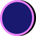 Blue and pink button
