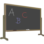 Blackboard with stand and letters vector image