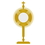 The Blessed Sacrament vector illustration