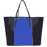 blue black handbag