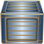 Vector clip art of wooden blue box