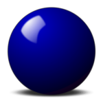 blue snooker ball