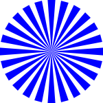 blue basic star burst