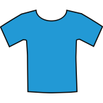 Blue t-shirt vector illustration
