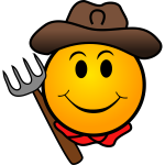 Farmer smiley vector image