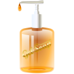 Vector image of gel soap dispenser