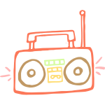 Drawing of a radio receiver