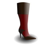 Women's boot vector image