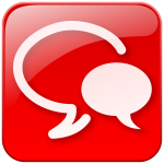 Chat symbol red icon