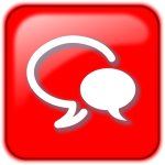 Red chat button