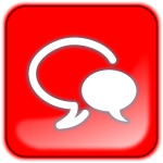 Red talking symbol