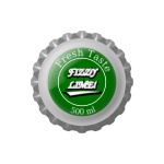 Vector image of bottle cap