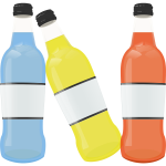 Colored bottles image