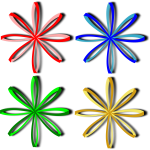 Selection of bows vector image