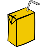 Vector drawing of juice in box