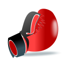 One leather boxing glove vector clip art
