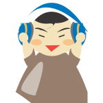 Boy with headphones vector graphics