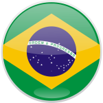 Flag of Brazil round shaped vector image