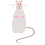 Vector drawing of rat - cartoon style
