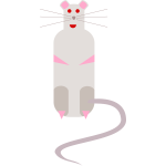 Vector image of cartoon rat