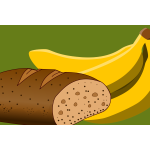 Bread and banana image