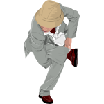 Young man doing a breakdance vector image