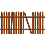 Broken picket fence