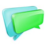 3D chat bubbles vector drawing