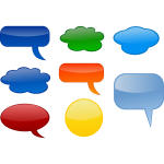 Various speech bubbles vector image