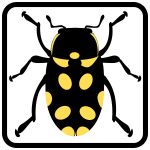 Vector illustration bug sign icon