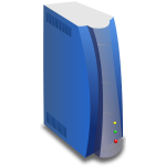 Vector image of blue server