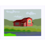 Red house vector graphics