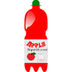 A bottle of apple spritzer vector drawing