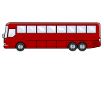 Tour bus vector drawing