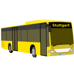 A yellow bus