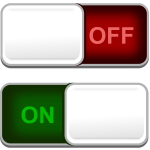 Vector clip art of on and off button switches