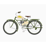 Vintage bicycle with motor