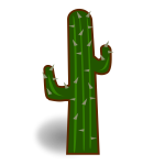 Outlined cactus