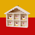 Wooden toy cake-house