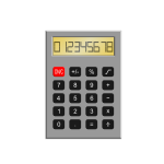 Old calculator vector illustration